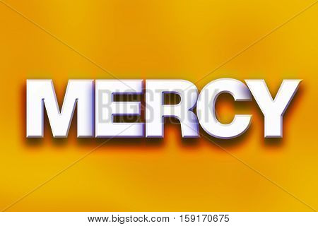 Mercy Concept Colorful Word Art