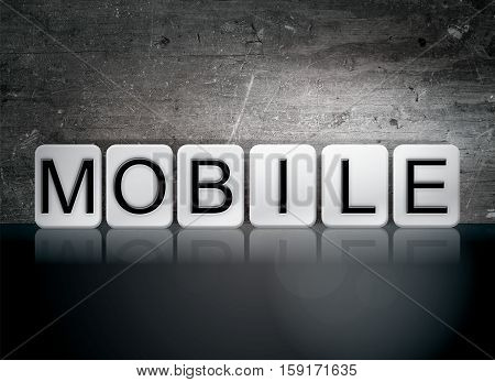 Mobile Tiled Letters Concept And Theme