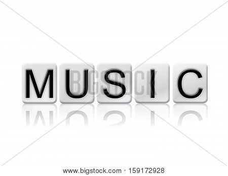 Music Isolated Tiled Letters Concept And Theme