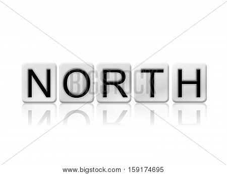 North Isolated Tiled Letters Concept And Theme