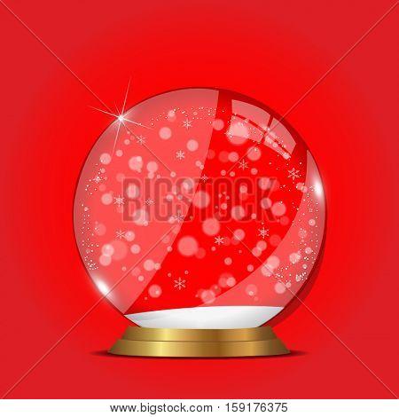Christmas snow globe illustration