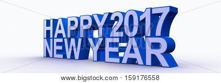 Happy New Year 2017,3D Rendering