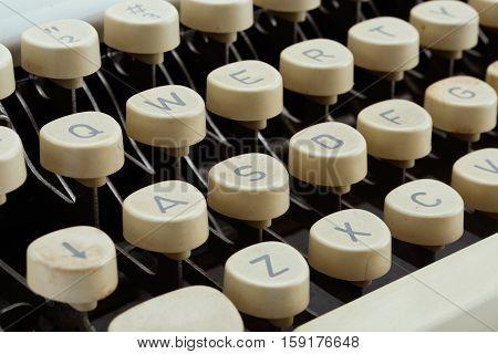 Vintage Typewriter Keys.