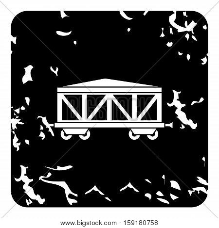 Wagon train icon. Grunge illustration of wagon train vector icon for web