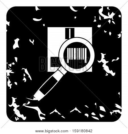 Barcode scanner icon. Grunge illustration of barcode scanner vector icon for web