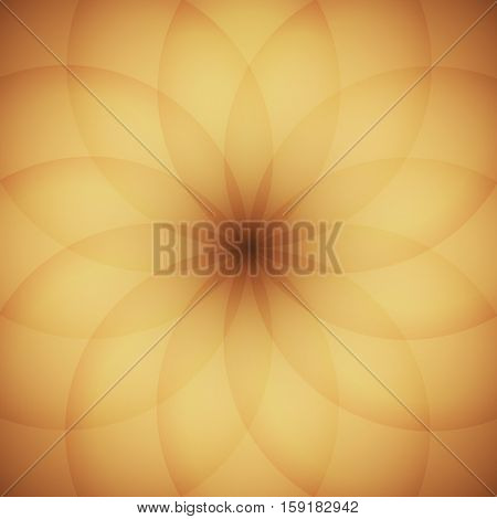 Circle elements with golden background, stock vector