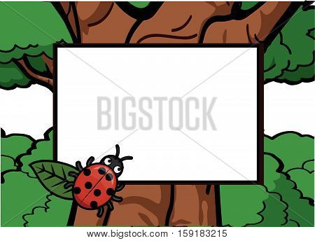 Lady bugs around the forest vector illustration design eps 10