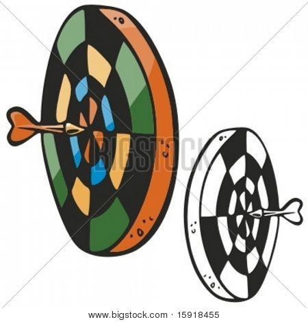 Darts board. Vector illustration
