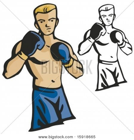 Boxer vector illustration.