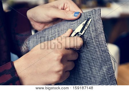 Fashion Designer Cutting Tailor Made Concept