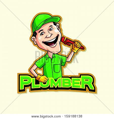 plumber logo vector illustration design eps 10