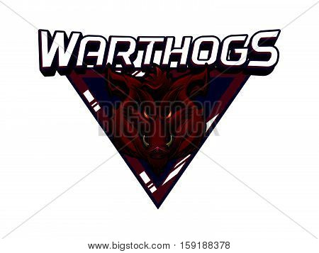 warthogs banner vector illustration design eps 10