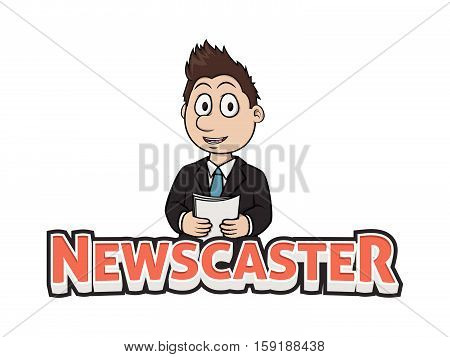 newscaster vector illustration design eps 10 color