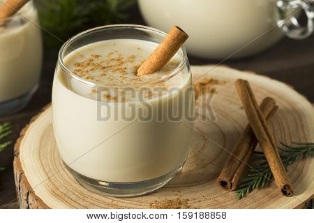 Homemade Christmas Eggnog With Cinnamon