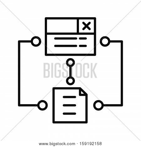 program algorithm icon vector illustration design eps 10