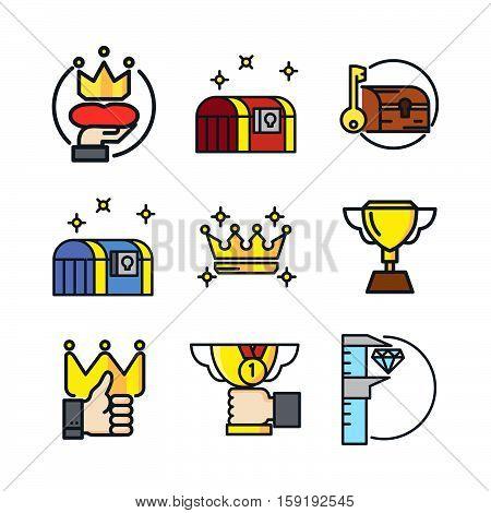 treasury icon set color vector illustration design eps 10