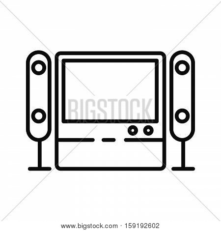 home theater system vector illustration design eps 10