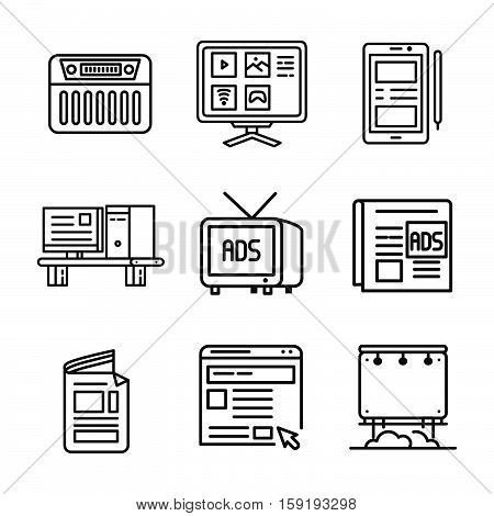media information device icon vector illustration design eps 10