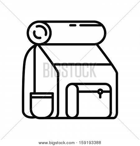tourist back pack vector illustration design eps 10