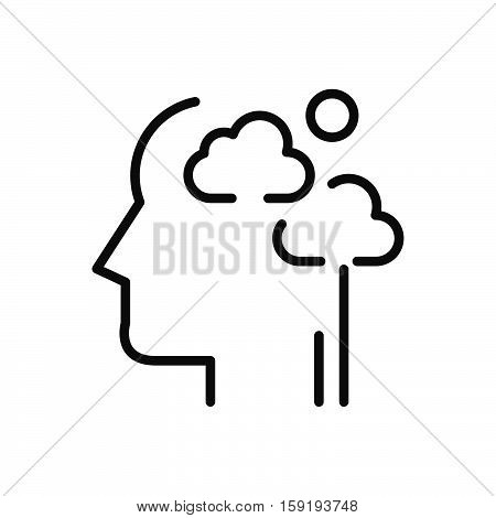 clear your mind vector illustration design eps 10