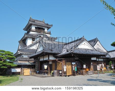 Kochi, Japan - July 19, 2016: Kochi Castle is a Japanese castle in Kochi Prefecture, Japan. Kochi Castle is a hilltop castle that was built by Yamanouchi Kazutoyo in 1601 and was completed in 1611.