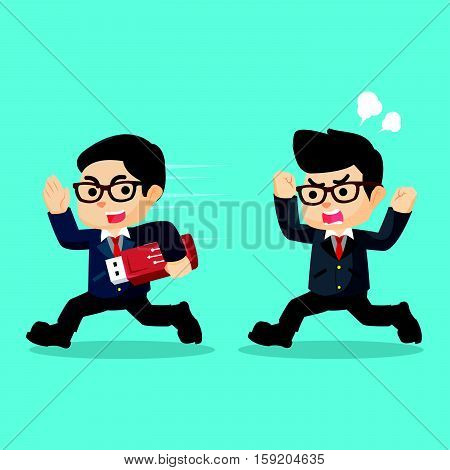 stealing data with flashdisk eps10 vector illustration design