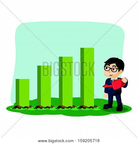 employers were watering graphics eps10 vector illustration design