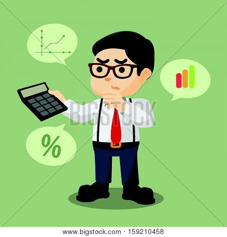 accountant counting percentage eps10 vector illustration design