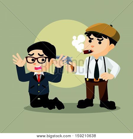hostage mafia man eps10 vector illustration design