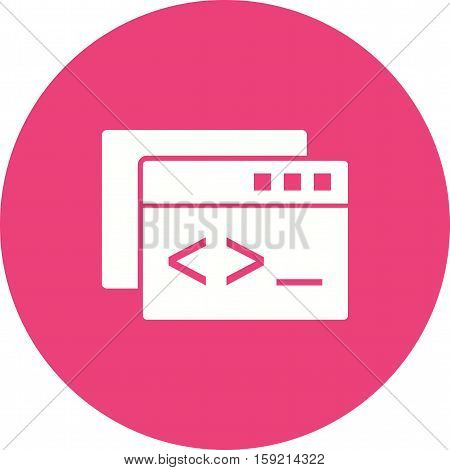 Code, seo, web icon vector image. Can also be used for software development. Suitable for use on web apps, mobile apps and print media.