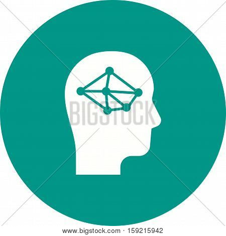 Thinking, critical, logic icon vector image. Can also be used for software development. Suitable for use on web apps, mobile apps and print media.