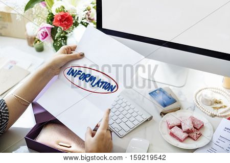 Information Data Facts Statistics Results Content Concept