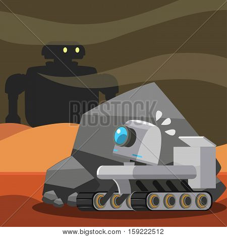 hover robot encounter a robot on mars
