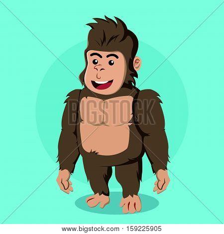 gorilla character cartoon eps10 vector illustration design