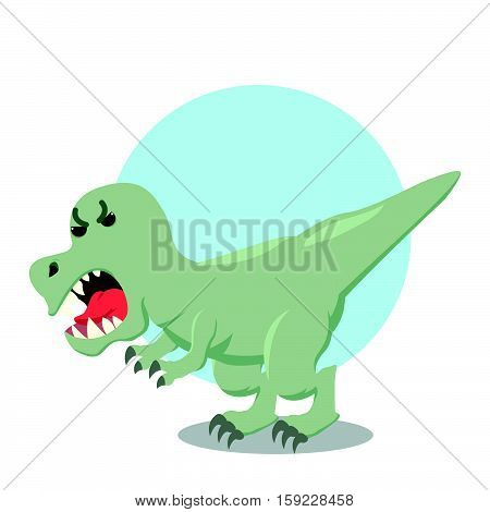 trex roaming eps10 editable vector illustration design
