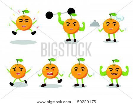 orange cartoon set eps10 vector illustration design