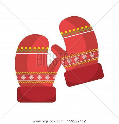 winter gloves clothes icon vector illustration design