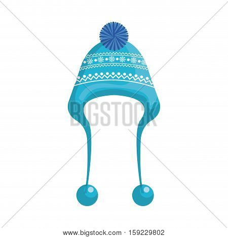 winter hat clothes icon vector illustration design
