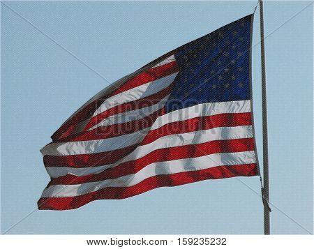 A graphic illustration of American flag. Nov 2016