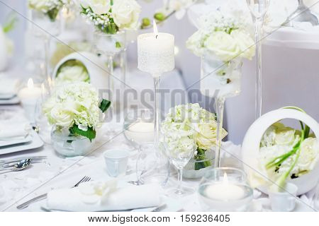 Beautidul Table Set For Wedding Reception