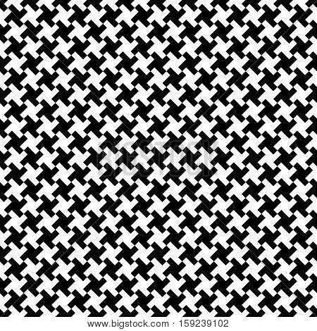 Houndstooth fabric pattern vector seamless pattern vector background