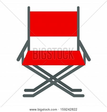 Director movie chair vector illustration isolated on white background. Hollywood producer cinema industry production tool. Entertainment seat furniture.