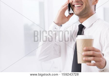 Elegant Businessman With Coffee