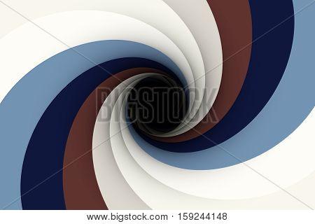 a black hole in a blue color 3D illustration