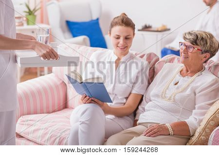 Elderly Lady In Private Clinic