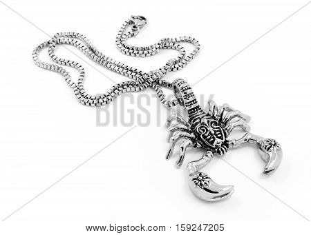 The Scorpion Pendant And Necklace - Stainless Steel