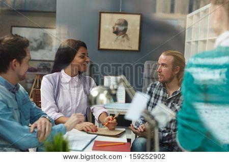Meeting in art-room