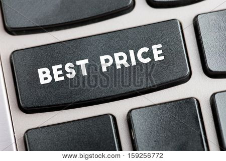 Black keyboard with the words best price