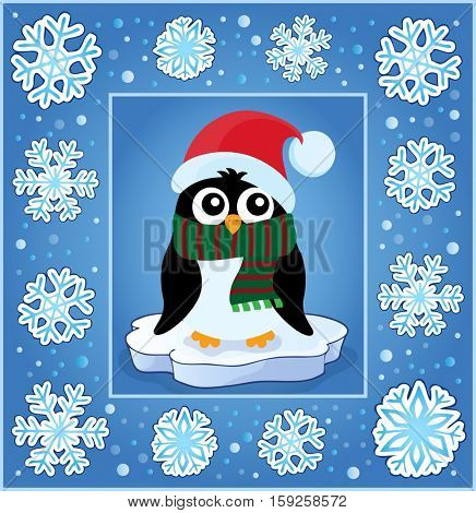 Christmas decorative greeting card 8 - eps10 vector illustration.