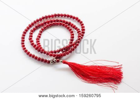 Close Up Of Mala Beads